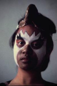 Fig. 7: Makeup application on Garuda character. Source: Dewan Bahasa dan Pustaka