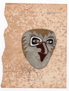 Fig. 6: Sketch of Garuda makeup design for Garuda by participant. Source: Dewan Bahasa dan Pustaka