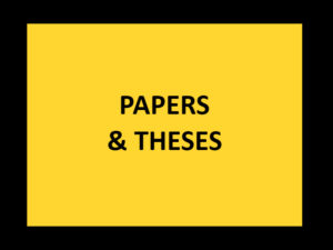 AEAM - PAPERS AND THESES