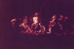 Music ensemble in costume