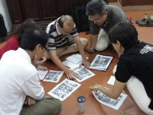 Pic: Group activity for guide training