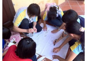Pic: Group activity at site