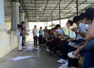 Pic: Group reflection exercise at site