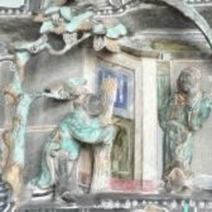 Scenes from the moral stories and legends carved in relief on granite (1)