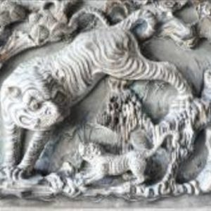 Scenes from the moral stories and legends carved in relief on granite (2)